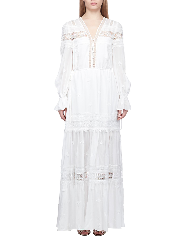 797aae64eff6e Self-Portrait 3D Plumetis Maxi Dress In White | ModeSens