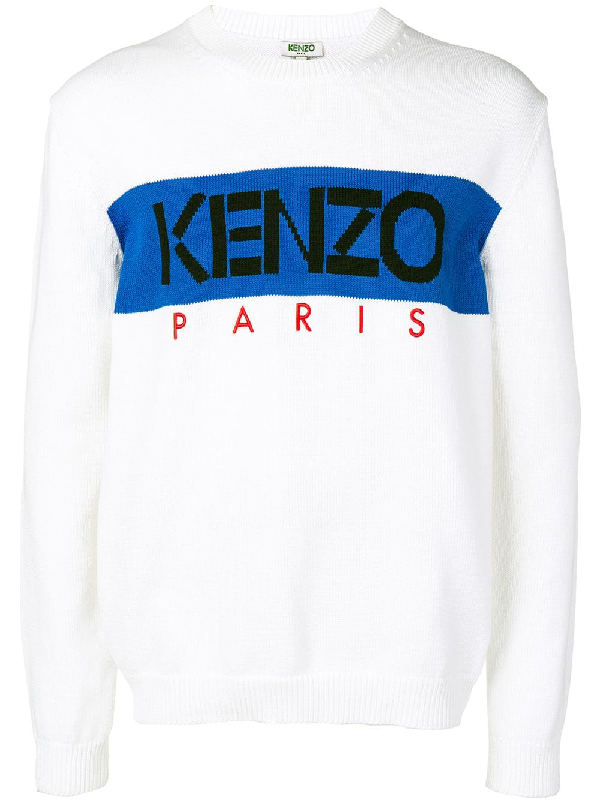 d675add6 Kenzo Men's Paris Jumper Shirt In White | ModeSens