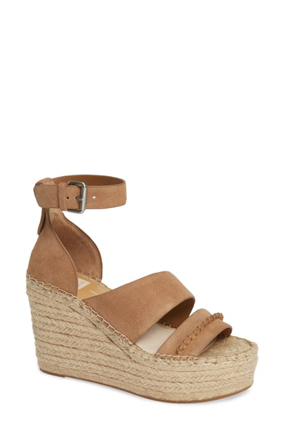 1e5bd8f7941b Dolce Vita Women s Simi Suede Espadrille Wedge Sandals In Dark Saddle Suede