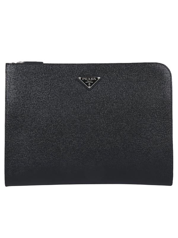 72a5e6c3a468 Prada Saffiano Document Holder In Black | ModeSens