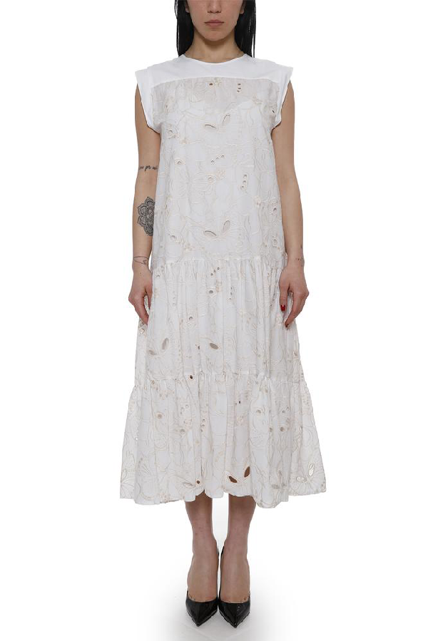 8dfb379978 See By ChloÉ Tiered Summer Dress - White