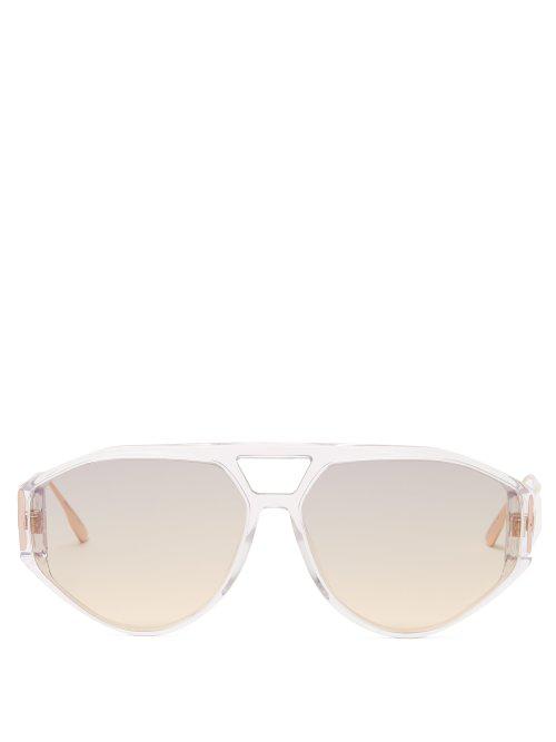 d4d38c952ec0 Dior Eyewear - Clan1 Aviator Acetate Sunglasses - Womens - Clear ...