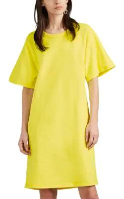 6c76b9b4ab A_Plan_Application Cotton Terry T-Shirt Dress In Neon Green   ModeSens