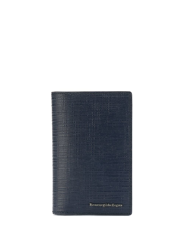 756316a1abb5 Ermenegildo Zegna Simple Card Case - Blue | ModeSens