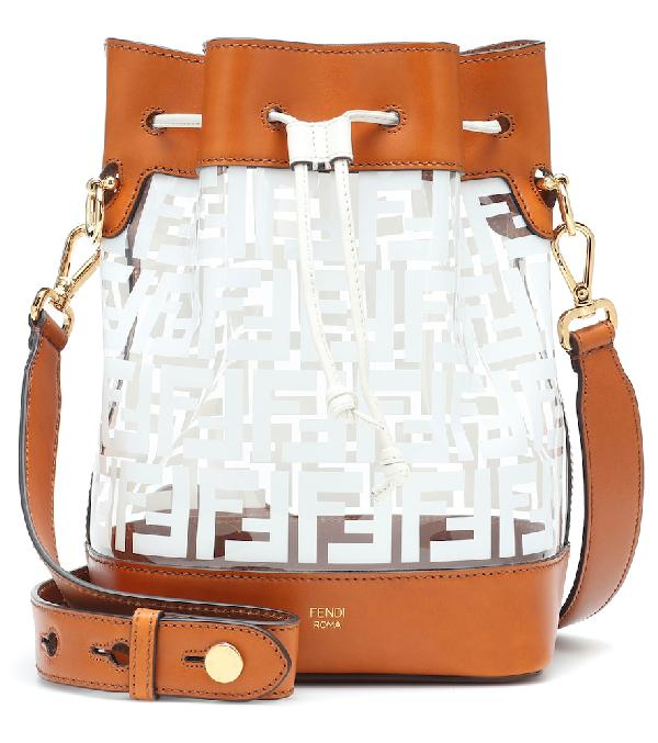 13c98bab74aa Fendi Mon Tresor Logo Transparent Bucket Bag - White In Brown