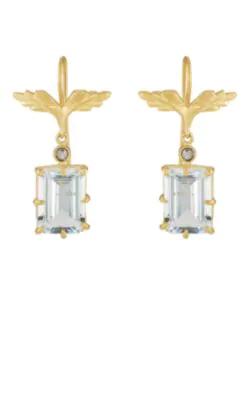 b7dc43963b657 Wing Drop Earrings - Gold