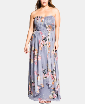 Trendy Plus Size Florence Whimsy Maxi Dress