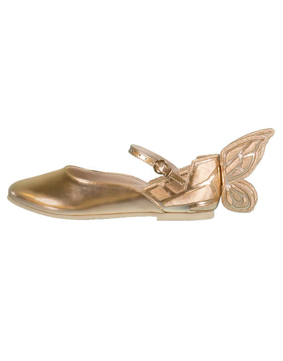 1de029cdd348 Sophia Webster Chiara Embroidery Junior Flats In Rosegold