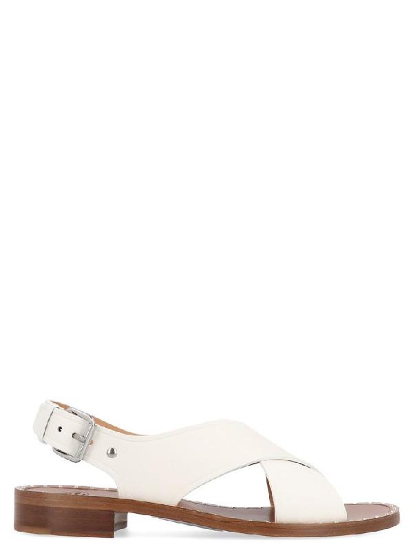 36574ebc6f2 Church s Rhonda Slingback Sandals In White