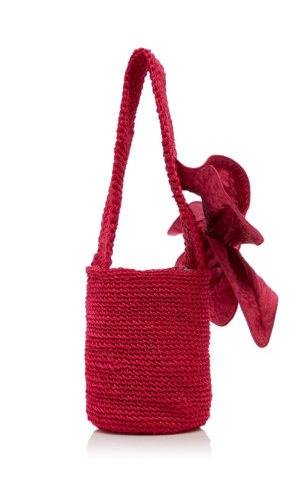 Johanna Ortiz Distrito Salvaje Medium Crochet Bucket Bag In Pink