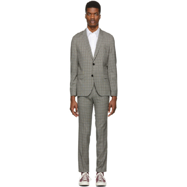 34a014b2 Hugo Pink And Black Check Arti/Hesten Suit In 683 Lt Pnk | ModeSens