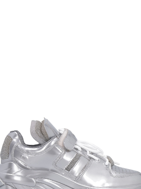 newest 846ba 04cb7 Maison Margiela Retro Fit Low-Top Sneakers In Silver