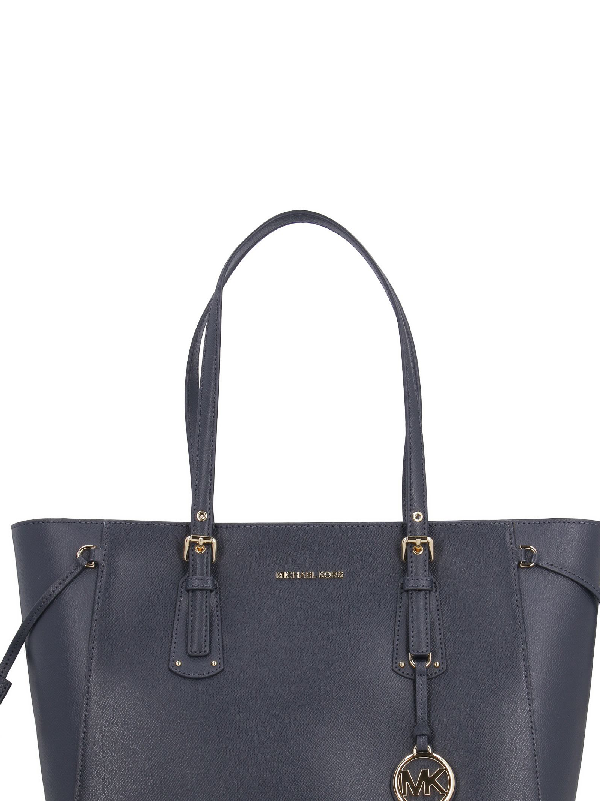 1443c72f8406 Michael Kors Voyager Medium Leather Tote In Blue | ModeSens