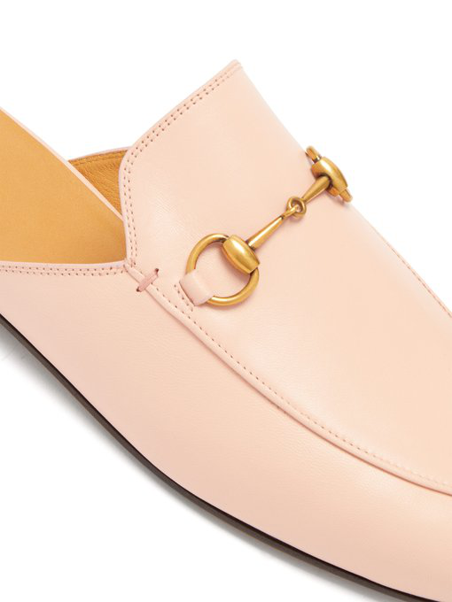 Gucci Princetown Horsebit-Detailed Leather Slippers In Pink
