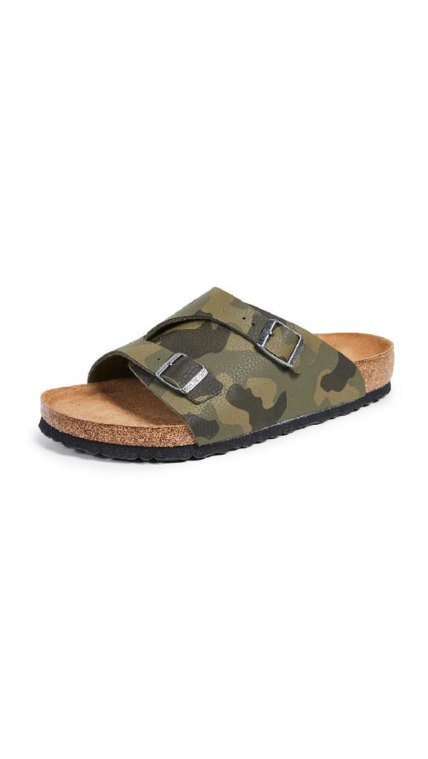 de8143d595af Birkenstock Zurich Soft Footbed Sandals In Desert Soil/Camo Green ...