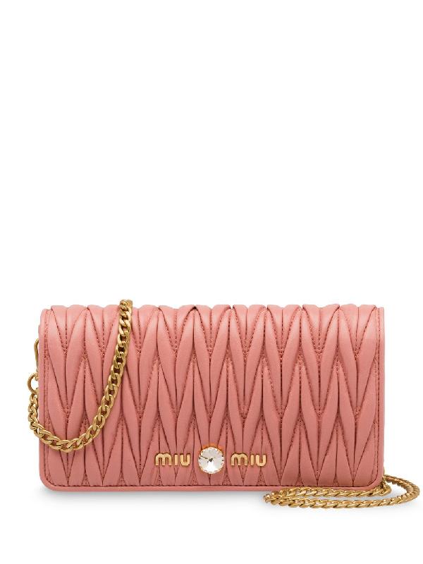 d229f4c007eaa Miu Miu Miu Solitaire Matelassé Bag - Pink