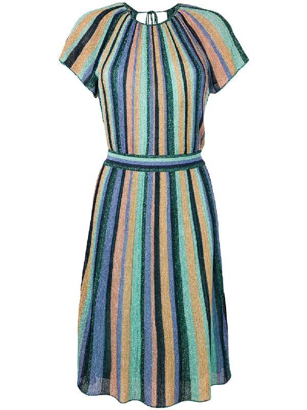 0883ec2a91 M Missoni Striped Midi Dress - Farfetch In Blue