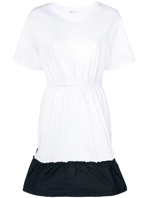 f3f89f8233c Red Valentino Two-Tone T-Shirt Dress - White