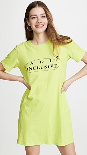 7ae34d24fd Ksenia Schnaider All Inclusive T-Shirt Dress In Neon Yellow   ModeSens