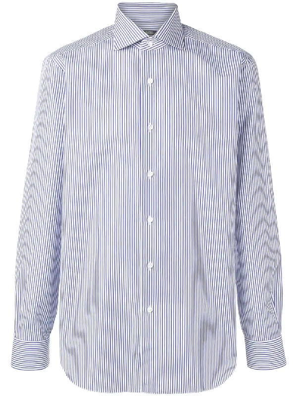 22c2a58dea Barba Pencil Stripe Shirt - Blue | ModeSens