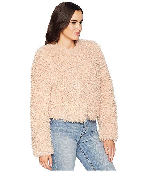 3445312cf61b Ugg Lorrena Faux Fur Jacket In Parfait Pink   ModeSens