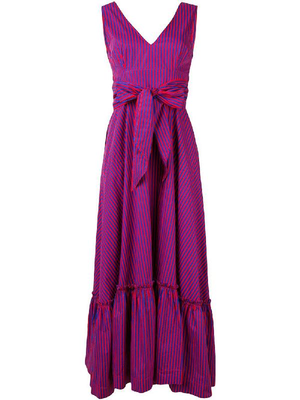 hFantasia P o BlueModesens r s Striped a Maxi Dress H9E2WIYD