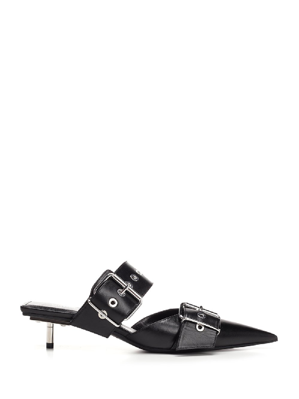 9250c6187833 Balenciaga Belted Calf Leather Mules