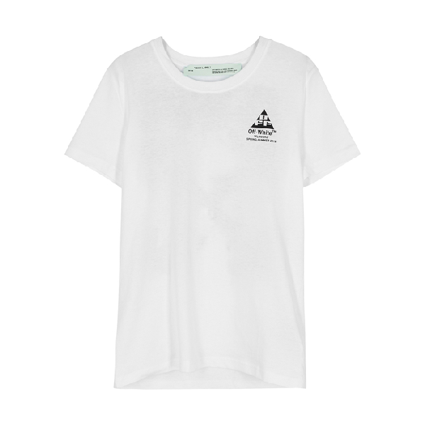 0390812ff Off-White White Embellished Cotton T-Shirt