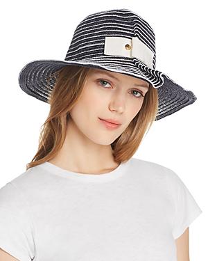 c66bfe07f532c2 Raffaello Bettini Pleated Straw Hat - 100% Exclusive In Navy/White ...