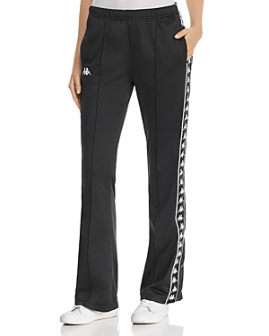 bf7923211d Kappa Banda Wastoria Pintuck Side-Snap Track Pants In Black/White ...