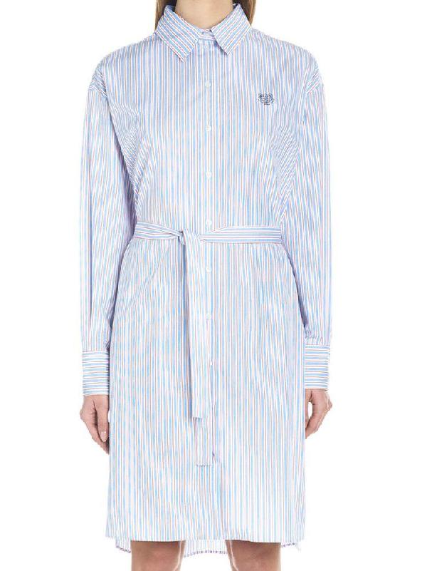 046ec5f3 Kenzo Tiger Detail Shirt Dress In Blue | ModeSens