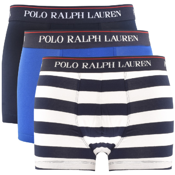 4a031fe09 Polo Ralph Lauren Three-Pack Stretch-Cotton Jersey Boxer Briefs - Navy In  Blue