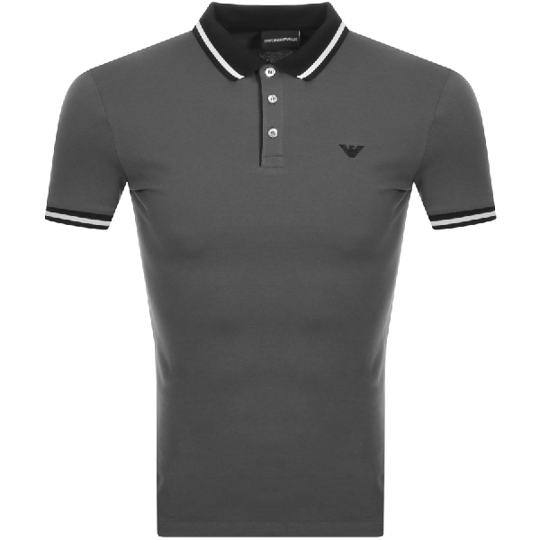 97e04ae9 Armani Collezioni Emporio Armani Short Sleeved Polo T Shirt Grey ...