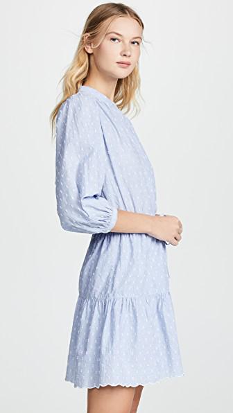 Joie Adel Swiss-Dot Shirt Dress In Cornflower