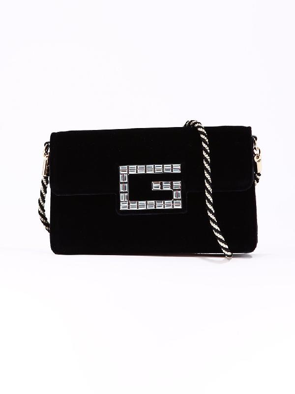 eafe07887d5 Gucci Mini Velvet Shoulder Bag In Black. CETTIRE
