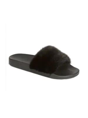 15a2c159e677 Givenchy Mink Fur Slides In Black