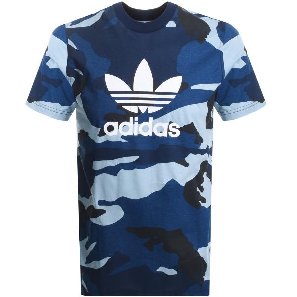 c3acc684 Adidas Originals Camo Trefoil T Shirt Navy | ModeSens