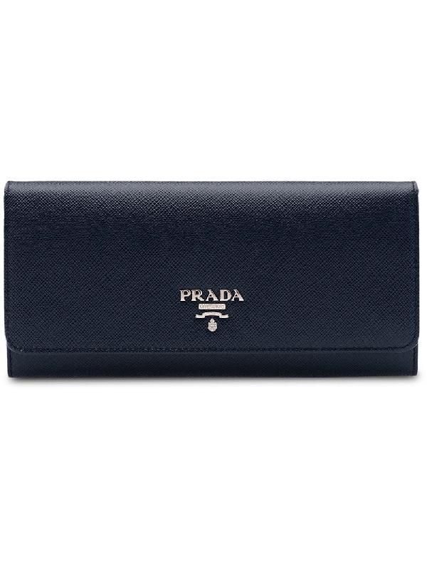 004a3644f2010 Prada Saffiano-Portemonnaie - Blau In Blue