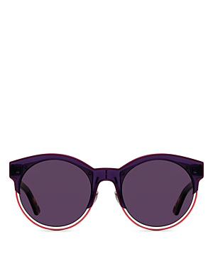 98d55f02cba3 Dior Women's Sideral 1 Mirrored Round Sunglasses, 53Mm In Plum/Brown Gold