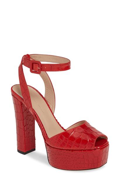 ac38a62031 Giuseppe Zanotti Guiseppe Zanotti Platform Block Heel Sandal In Red ...