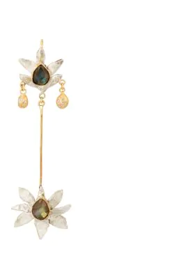Julie Wolfe Lotus Flower Drop Earring Gold Modesens
