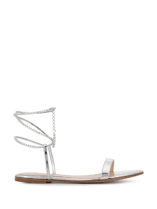 a382ec05362 Gianvito Rossi Silver Arge Sandals