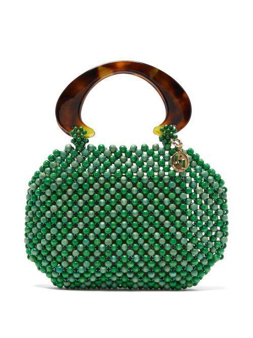 3cce09374f6 Rosantica By Michela Panero - Freddy Beaded Wood Handbag - Womens - Green  Multi
