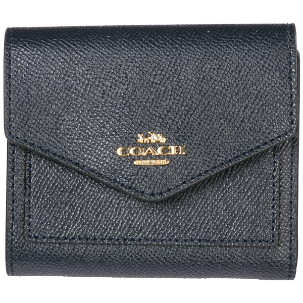 53f4c62a8 Coach Women's Wallet Genuine Leather Coin Case Holder Purse Card Trifold In  Blue