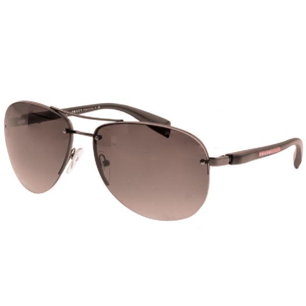 e1c0bcee3589e Prada Linea Rossa Sunglasses Brown In Gunmetal Grey Brown