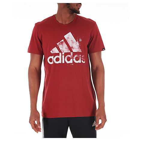 toppmode Sells fantastiskt urval Adidas Originals Adidas Men's Splatter T-Shirt In Red Size X-Large ...