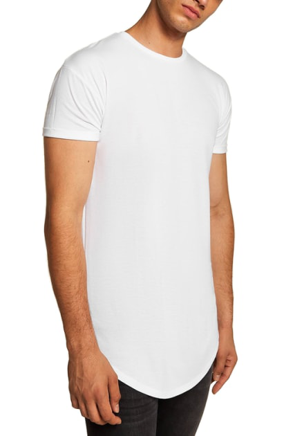13f59a926 Topman Scotty Longline Slim Fit T-Shirt In White | ModeSens