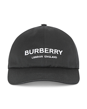 Burberry Embroidered Cotton Canvas Baseball Hat In Black