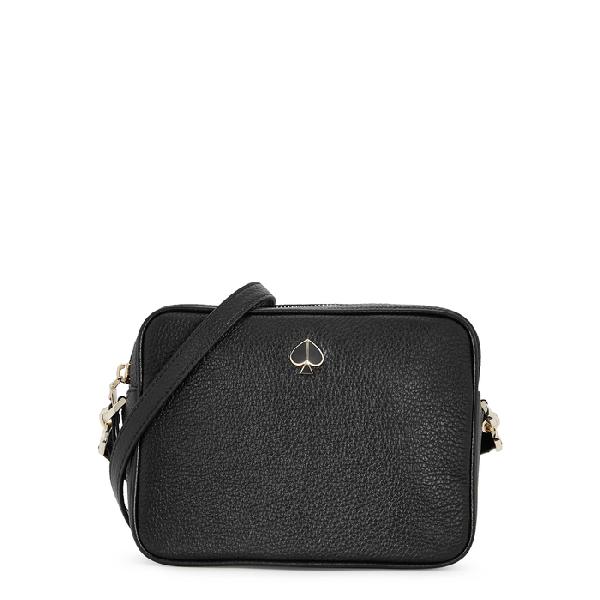 Kate Spade Polly Medium Leather Camera Bag In Black Modesens