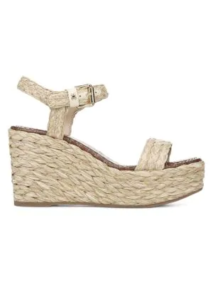 734c58260 Sam Edelman Deena Raffia Wedge Sandals In Natural